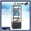 98L cake display chillers/Countertop Displays/beverage display showcase with Flat Glass with Light Box CE GS ROHS