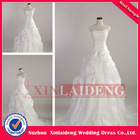 RWD005 actual image A line organza lace wedding gown sample pictures