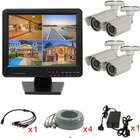 Complete 4CH LCD combo DVR cctv security camera home kits ELP-DVR1504C-6037