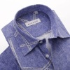 new designs hot sale Men's Denim short sleeve Shirt