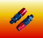 AN6 0 degree Aluminium fitting adaptor Reusable Swivel Hose end