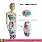 2012 tie dye dress for lady