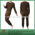 100%Polyester brown men sport suit