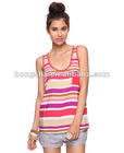Striped Woven Tank Top HFCT111
