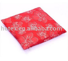 Red jacquard cushion