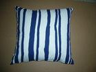 Chenille Jacquard weave with Stripe cotton sofa cushion