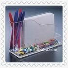 clear acrylic memo holder &name card shelf &pen holder