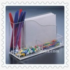 clear acrylic memo holder &name card shelf &pen holder