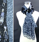 animals print fashion cotton scarves for girls