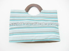 colorful stripe nylon microfiber shopping bag