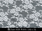 Knitted nylon allover lace fabric