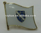 Bosnia flag pin,16mm metal world country flag lapel pin