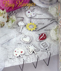 rhinestone heart shape bag hanger made in china