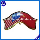 USA & China flag badge pin