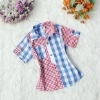 2012 newest fashion Plaid casual short sleeve children shirts