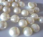 DIY Loose 8mm cream color flatback pearl for fashion jewelry decoration!
