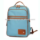 Korean version with real leather male and female students shoulder backpack computer bag