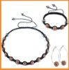 Wholesale shamballa bracelet cheap/shamballa earring set