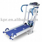Home use foldable multi-functional manual treadmill