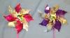 Red and purple pinwheels