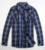 Men casual cotton checks shirt