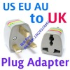 AU EU US to UK AC Power Plug Travel Adapter Converter
