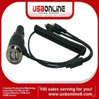 Micro USB 5 Pin to Dual USB Port Car Charger 5V 3.1A for Amazon Kindle Fire/Nook Color/ Nook Tablet/ HP Touchpad