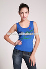 tight fitting spandex/cotton women tank top