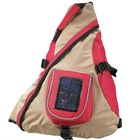 Single shoulder bag with solar engery charger /solar charger/solar light/solar Backpack