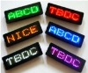 Rechargeable LED Name Badge 6 color optional