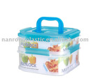STACKABLE FOOD CONTAINER WITH LOCK