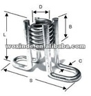 FLARED THIN SLAB COIL INSERT