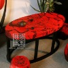 Q143-80Handmade Oval Antique Coffee Table Set