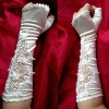 Wedding Dress Evening Prom Gown Satin Long Bridal Fingerless wedding bridal gloves