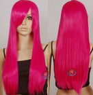 28 inch Hot Rose Pink Long Cosplay Synthetic Hair Wigs