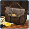 Brown color leather lady bags, 2012 target big order ,high workmanship!