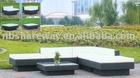 aluminum wicker corner sofa set