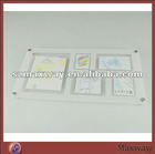 Pretty Large Capacity Rectangle Magnetic Counter Acrylic/Plexiglass Picture/Photo/Card Holder/Frame