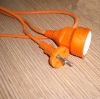 European power cord with plug