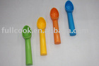 Biodegradable!!!! Colorful plastic ice-cream spoon