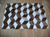 the brown and white natural goatskin carpet