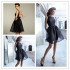 Goingwedding Black High Neck Puffy Short Skirt Bridesmaid Dress 2012 LA0522