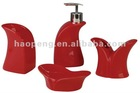 set/4 ceramic bath accessory