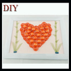 DIY buttons of red heart craft buttons pack