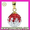 New design jewelry Red-White Czech crystal pendant