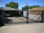 Garden using sliding driveway gates