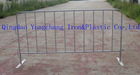 Galvanized steel park barrier fence