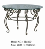 Wrought Iron Table (Glass Table, Iron Furniture)