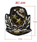 Metal military cap badge for uniform
