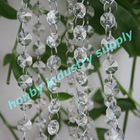 Clear color octagon shape 14mm size wedding crystal chains